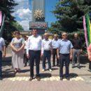 24 июня в Ахтынском районе возложили цветы к Обелиску павшим в годы Великой Отечественной войны землякам (1)