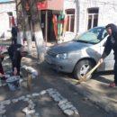 работники МКУ «УКСМПиТ» Ахтынского района провели масштабный субботник (1)