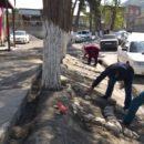 работники МКУ «УКСМПиТ» Ахтынского района провели масштабный субботник (5)